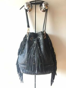 ZARA Accessories Crossbody / Shoulder Leather Fringe Handbag