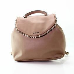 Nine West Brown Silver Aveline Small Chain Strap Backpack Ha