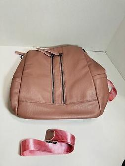 cluci backpack purse pink