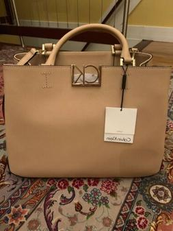 calvin klein handbag new with tag Leather Beige