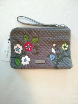 Vera Bradley Iconic RFID Wristlet Wolf Gray New with Tags Gr