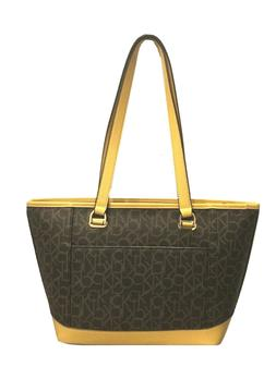 janae mercy signature tote bag browm mustard