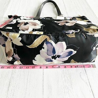 A Floral Print Tote