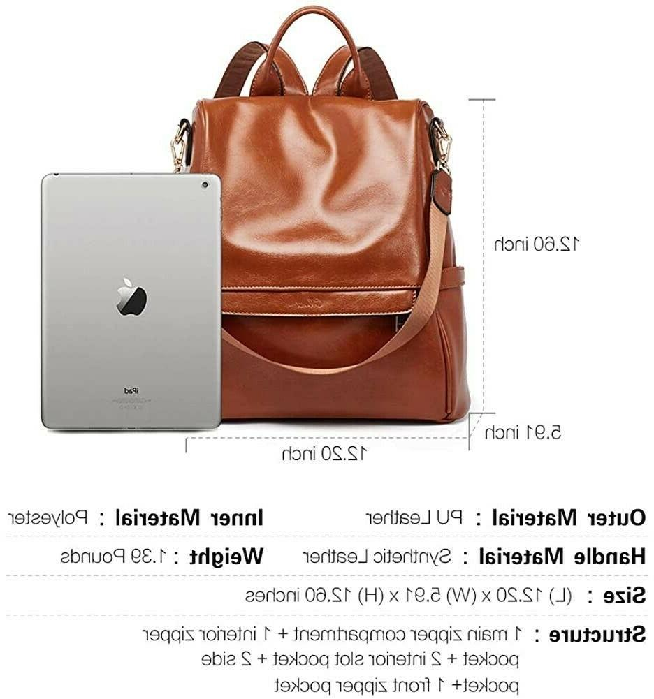 CLUCI Women Backpack Fashion Leather Travel Bag