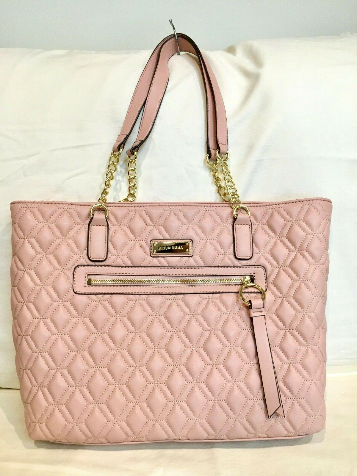 large tote bag dusty rose faux leather