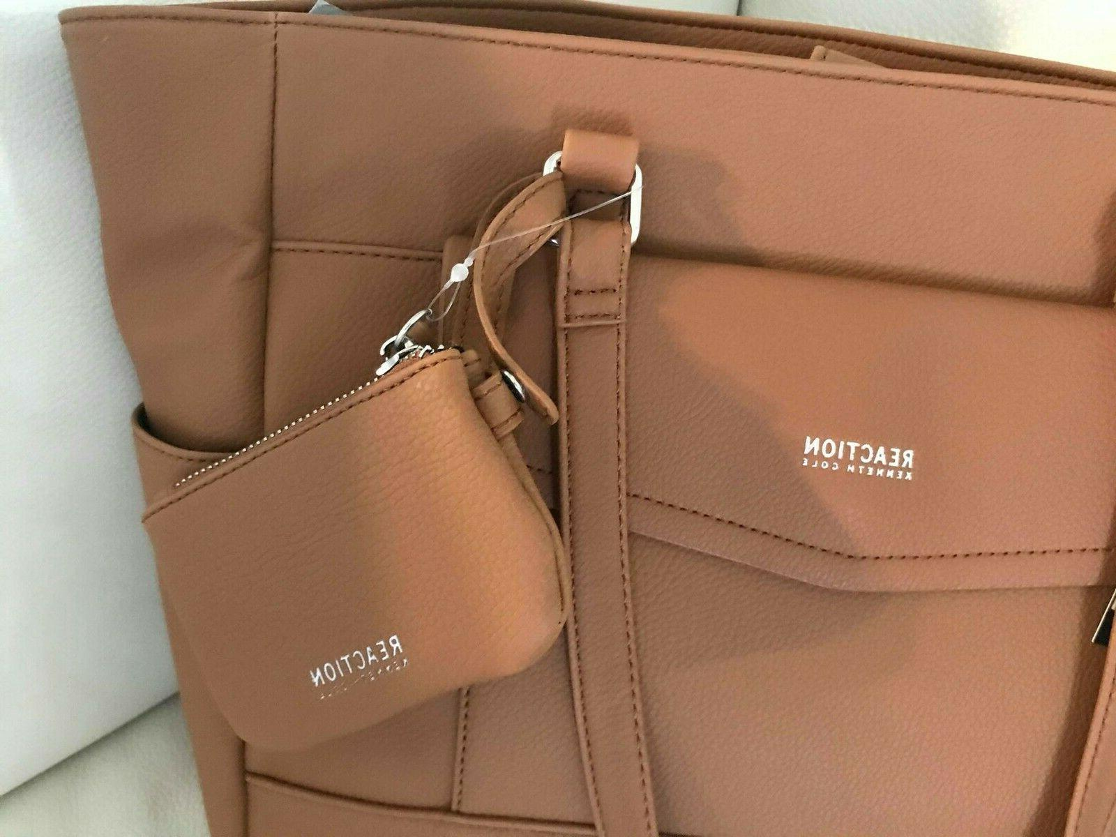 new COLE big RENEGADE TOTE cognac BAG in 1 coin