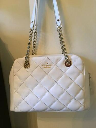 NEW Kate Spade Emerson Place Dewy Quilted Purse in Cement Fo