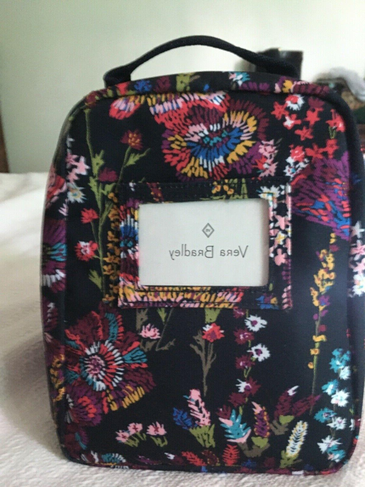 nwt insulated lunch bunch bag midnight wildflowers