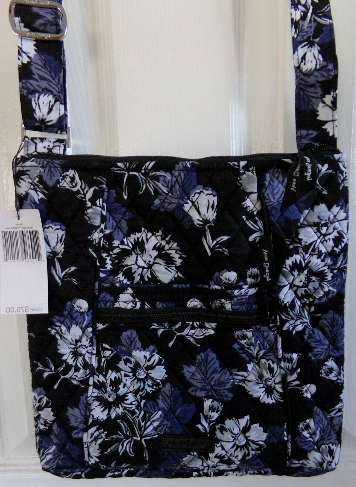 nwt new authentic frosted floral hipster crossbody