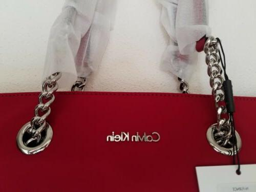 NWT Klein Nylon Chain Strap Shoulder Red