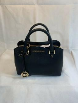 New Michael Kors Camille Small Satchel Pebbled Leather Cross