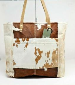new cowhide purse large tote cowgirl fashion