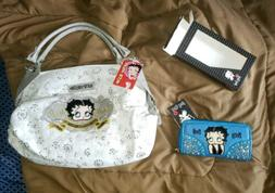 New with Tags - Betty Boop Handbag Purse White & brownish gr