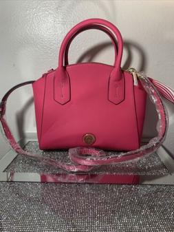 NEW Anne Klein Womens HoT Pink Medium Dome Satchel Purse Han