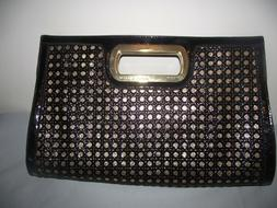 NWOT Anne Klein Black and Gold Clutch Purse - FREE SHIPPING