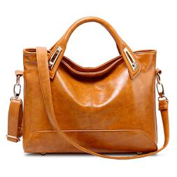 Oil Wax Leather Tote Purse Leather Satchel Handbag Messenger