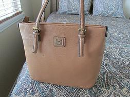 Anne Klein tan camel brown  classic pebbled shoulder designe