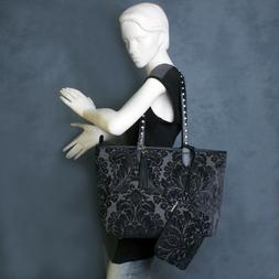 Raviani Tote in Chenille Floral Tapestry W/ Crystals Strap C