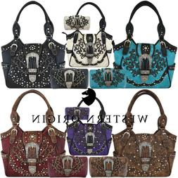 Western Buckle Country Handbag Concealed Carry Purse Women's