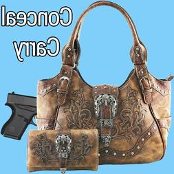 Justin West Western Floral CCW Stud Buckle Concealed Carry H