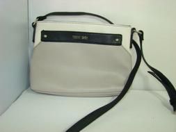 Nine West Woman's Purse Taupe & Ivory Faux Leather Cross Bod