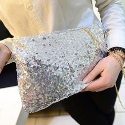 Women Ladies Glitter Sequins <font><b>Handbag</b></font> Spa