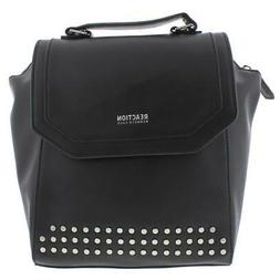 Kenneth Cole Reaction Womens Sutton Black Backpack Handbags